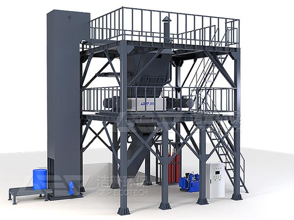 废吨桶破碎处理设备,工业危废预处理破碎处理系统