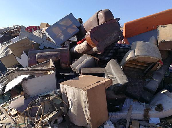 大件垃圾破碎成套设备,大件垃圾破碎机工艺流程讲解