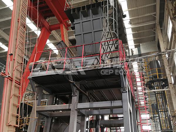 工业危废破碎机设备,为危废破碎系统配置液压系统