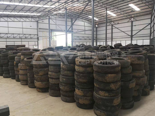 废旧轮胎粉碎机生产线,轮胎粉碎设备生产工艺流程