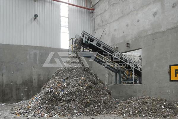 垃圾预处理系统,生活垃圾破碎处理工艺流程介绍