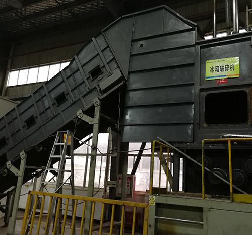 智能电子垃圾破碎机生产线,旧家电拆
