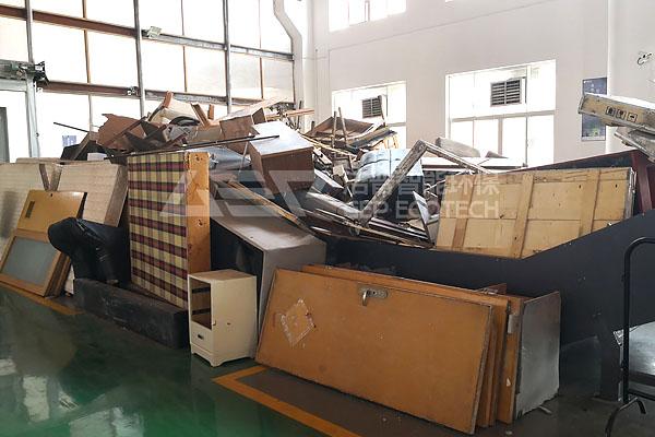 大件家具破碎设备厂家,大件家具破碎工艺流程介绍