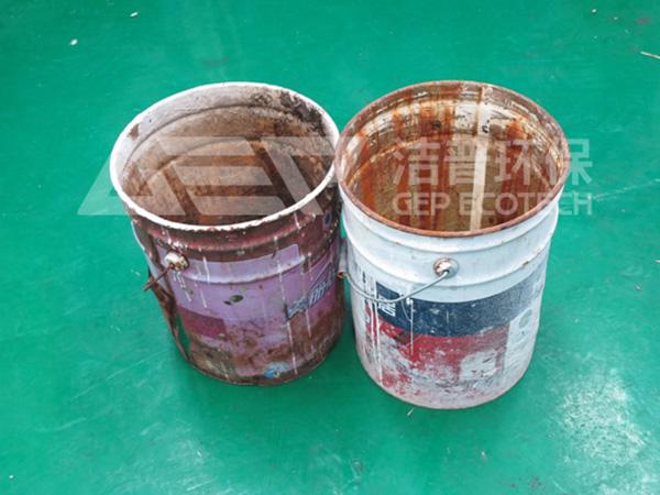 废弃油漆桶如何处理,废金属油漆桶破碎机为您助力