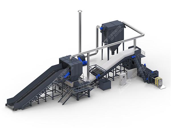 大件垃圾破碎机系统设备组成,大件垃圾处理流程图介绍