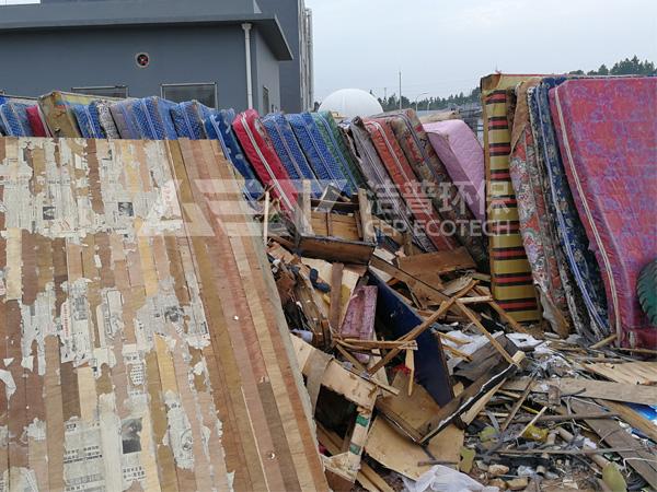 大件垃圾破碎工艺流程,大件家具破碎设备厂家