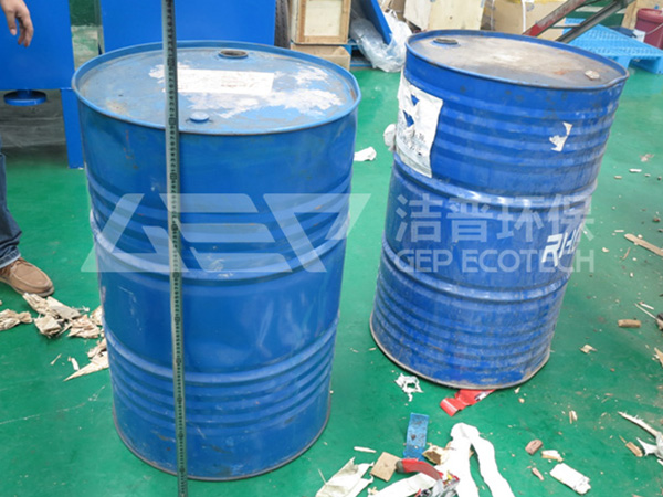 报废化工桶破碎机