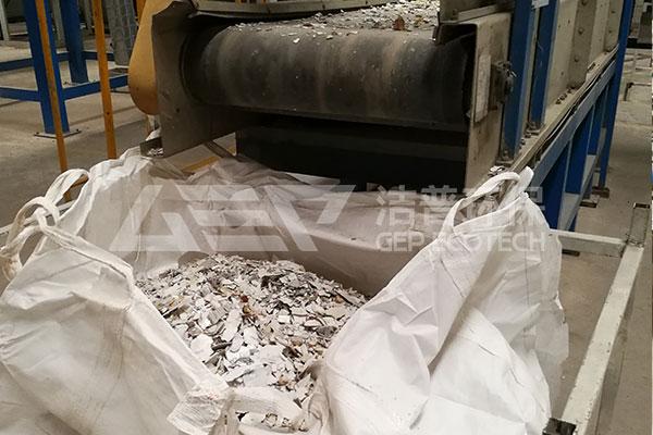 智能电子垃圾破碎机生产线,旧家电拆解破碎处理流程现场