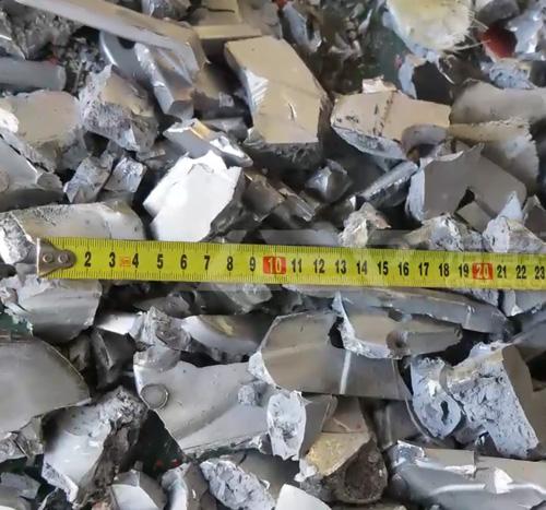 废铝合金铸件撕碎机现场试机视频