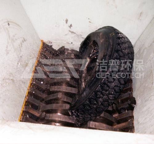 橡胶轮胎撕碎项目处理案例