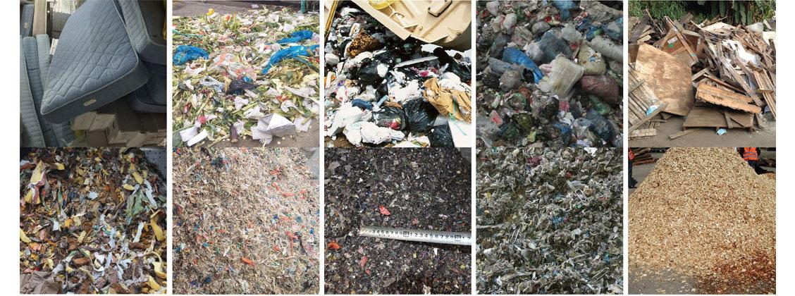 生活垃圾破碎对比图