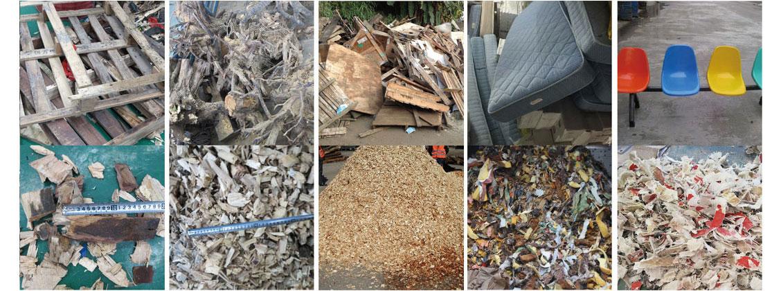 废旧木材破碎对比图